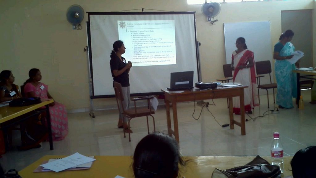 Volunteer training teachers in Sri Lanka